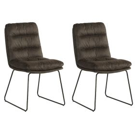 Lot 2 chaises tissu Moody Casita CHAMOOGRI