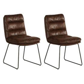 Lot 2 chaises tissu Moody Casita CHAMOOHAV
