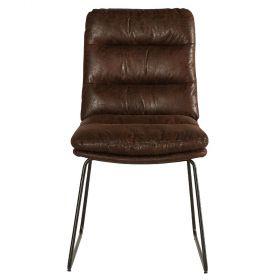 Lot 2 chaises marron Moody Casita CHAMOOHAV