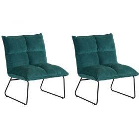 Lot 2 fauteuils tissu Calgary Casita FAUCALBLE