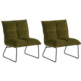 Lot 2 fauteuils tissu Calgary Casita FAUCALVER