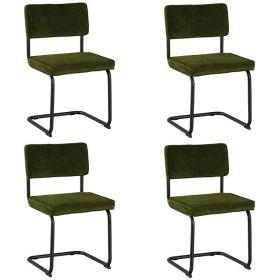 Lot 4 chaises tissu Brampton Casita CHABRAVERT
