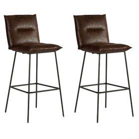Lot 2 chaises de bar tissu Casita  CHABAR 800HAV