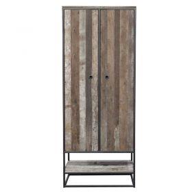 Armoire 1 niche bois recyclé et métal d-bodhi RING 80cm