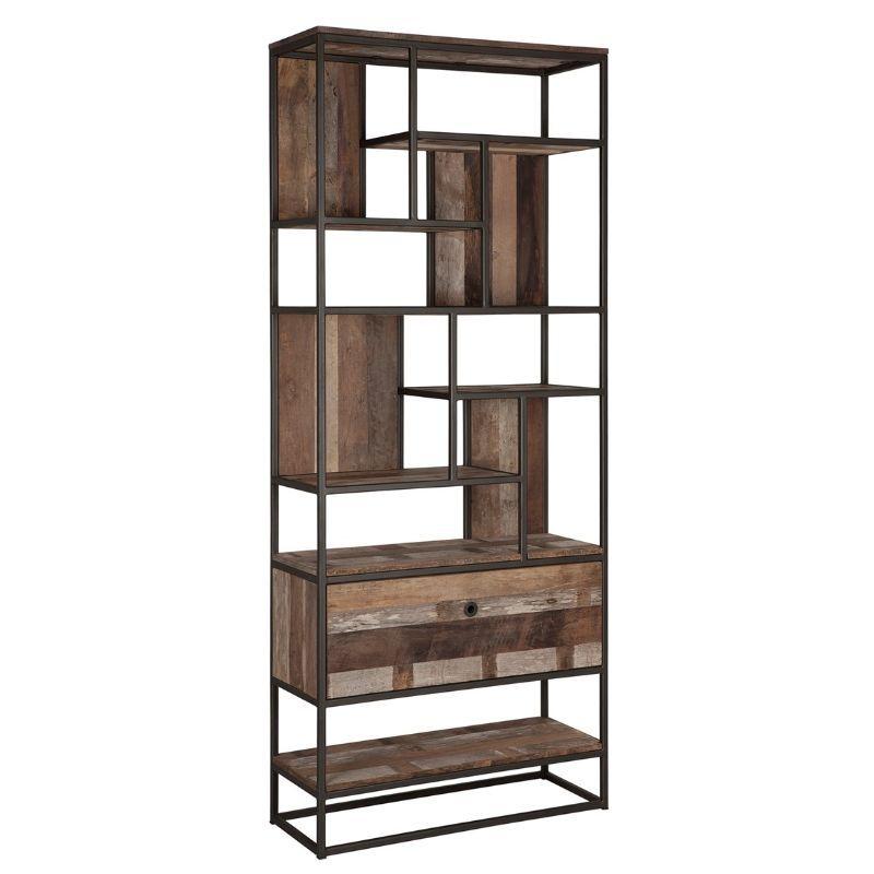 Bibliothèque bois recyclé et métal d-bodhi RING 90cm