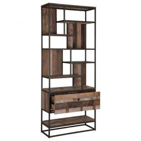 Bibliothèque industriel bois recyclé et métal d-bodhi RING 90cm