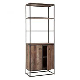 Bibliothèque industrielle 75cm bois recyclé et métal d-bodhi RING