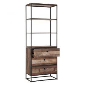 Bibliothèque industrielle bois métal d-bodhi RING 75cm