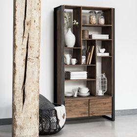 Bibliothèque tiroir teck recyclé et métal d-bodhi SING 90cm