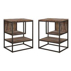 Lot de 2 chevets bois recyclé et métal d-bodhi RING 47cm
