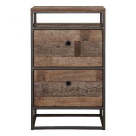 Commode bois recyclé 3 tiroirs d-bodhi RING 55cm