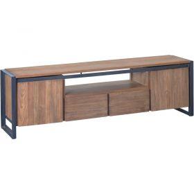 Meuble TV 2 portes teck et métal d-bodhi SING 180cm