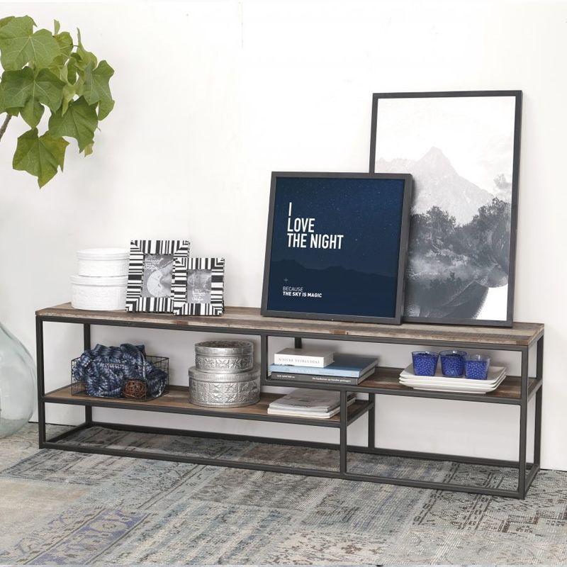 Meuble TV bois industriel et métal d-bodhi RING 175cm
