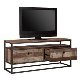 Meuble TV 2 tiroirs bois recyclé et métal d-bodhi RING 125cm