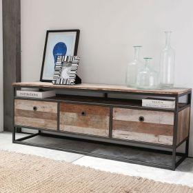 Meuble TV rangements  bois recyclé et métal d-bodhi RING 175cm