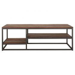 Table basse bois recyclé industriel d-bodhi RING 125cm