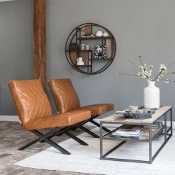 Table basse bois recyclé industrielle d-bodhi RING 150cm