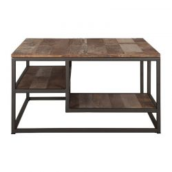Table basse carrée bois recyclé d-bodhi RING 75cm
