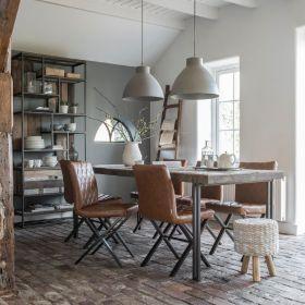 Table bois recyclé pieds métal d-bodhi RING 200cm