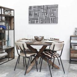 Table ronde bois patiné d-bodhi RING 100cm