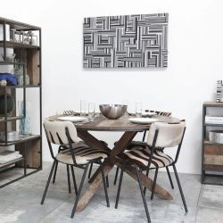 Table ronde bois ancien d-bodhi RING 130cm