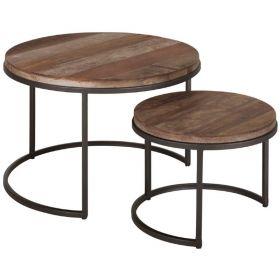 Tables basses gigognes bois recyclé et métal d-bodhi RING 60cm