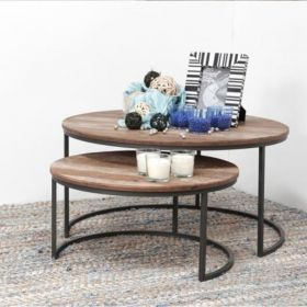 Tables basses gigognes industrielle d-bodhi RING 80cm