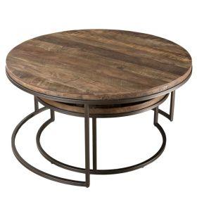 Tables basses bois recyclé rondes d-bodhi RING 80cm