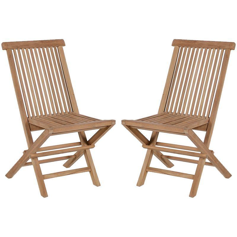 Lot de 2 chaises pliantes teck massif GARDEN modèle A