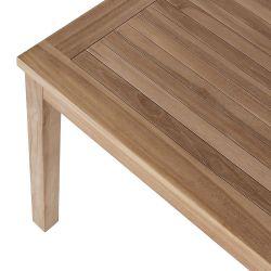 teck table carrée 70cm 2 chaises GARDEN