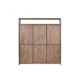 Armoire en bois de teck recyclé teinté 6 portes WANG D-Bodhi