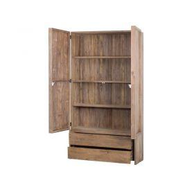 Armoire en bois de teck teinté 3 étagères WANG D-Bodhi