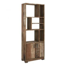 Bibliothèque bois de teck 2 portes MIND D-Bodhi