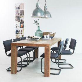 Table repas teck verni 4 pieds 210cm MIND D-Bodhi
