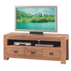 Meuble TV chêne massif 150cm Lodge Casita LODTV2