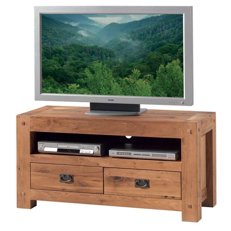 Meuble TV chêne massif 120cm Lodge Casita LODTV1