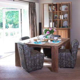 Table repas carrée teck teinté 150cm WANG D-Bodhi