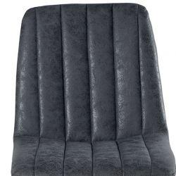 Lot de 4 chaises tissu vintage CHA 230GRI