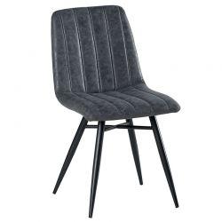 Lot de 4 chaises tissu gris CHA 230GRI