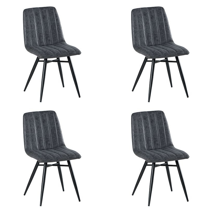 Lot de 4 chaises polyester CHA 230GRI