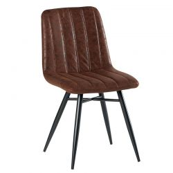 Lot de 4 chaises polyester marron CHA 230HAV