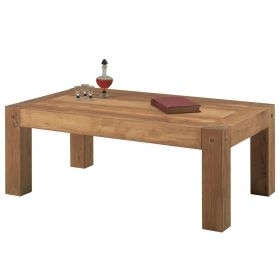 Table basse chêne massif 120cm Lodge Casita LODTAB2