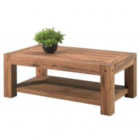 Table basse chêne massif 120cm Lodge Casita LODTAB3