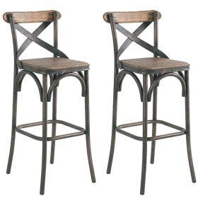 Lot de 2 chaises de bar métal 48cm Casita MOTOCHAHTN