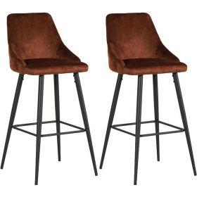 Lot 2 chaises de bar velours CASITA CHABARLOU3HAV