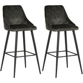 Lot 2 chaises de bar velours CASITA CHABARLOU3KAK