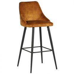 Lot 2 chaises de bar velours ocre CASITA CHABARLOU3OCR