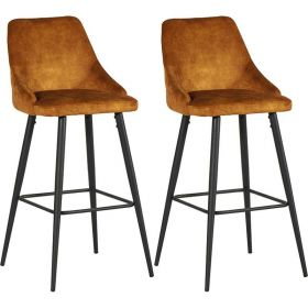 Lot 2 chaises de bar velours CASITA CHABARLOU3OCR
