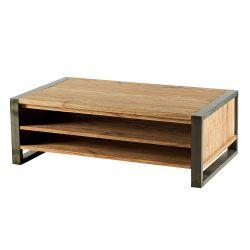 Table basse bois et métal 120cm Toronto Casita TOTABA1