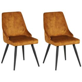 Lot 2 chaises velours CASITA CHACAS2OCR ocre